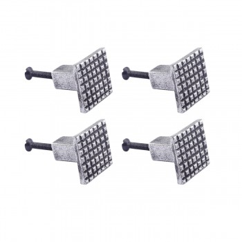 <PRE>Square Grid Iron Cabinet Knob Pewter Finish Pack of 4</PRE>zoom1