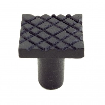 <PRE>Square Diamond Grid Iron Cabinet Knob Black Pack of 4</PRE>zoom5