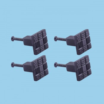 <PRE>Cabinet Knob Drawer Pull Hardware Square Aztec Black Iron Pack of 4</PRE>zoom2