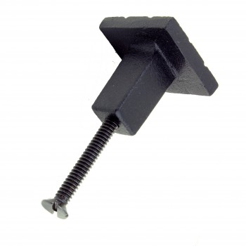 <PRE>Cabinet Knob Drawer Pull Hardware Square Aztec Black Iron Pack of 4</PRE>zoom5