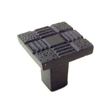 <PRE>Cabinet Knob Drawer Pull Hardware Square Aztec Black Iron Pack of 4</PRE>zoom8