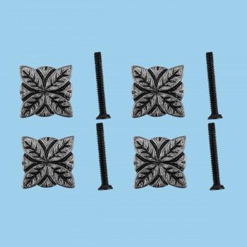 Flower Iron Cabinet Knob Pewter Finish Cabinet Hardware Pack of 4 Cabinet Knob Cabinet Hardware Iron Cabinet Knob