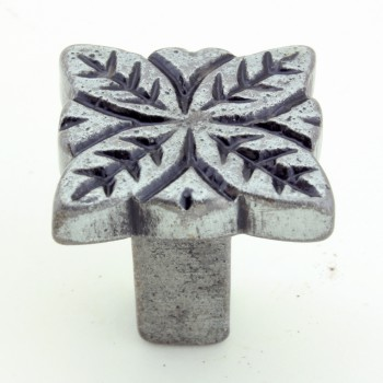 <PRE>Flower Iron Cabinet Knob Pewter Finish Cabinet Hardware Pack of 4</PRE>zoom3