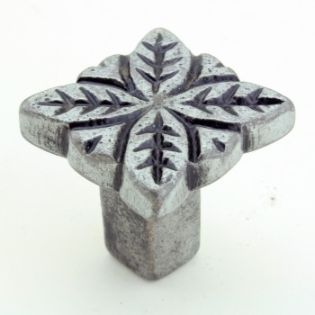 <PRE>Flower Iron Cabinet Knob Pewter Finish Cabinet Hardware Pack of 4</PRE>zoom4