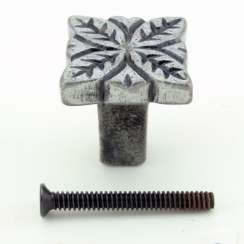 <PRE>Flower Iron Cabinet Knob Pewter Finish Cabinet Hardware Pack of 4</PRE>zoom8