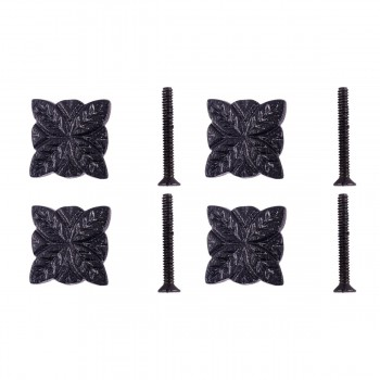 <PRE>Flower Cabinet Hardware Iron Cabinet Knob Black Pack of 4</PRE>