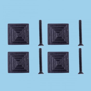 <PRE>Square Maze Cabinet Hardware Iron Cabinet Knob Black Pack of 4</PRE>zoom2