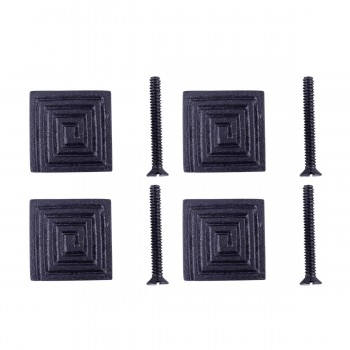 <PRE>Square Maze Cabinet Hardware Iron Cabinet Knob Black Pack of 4</PRE>zoom1