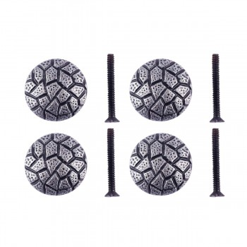 <PRE>Round Cabinet Knob inchCobble Stone Design&quot; Iron Pewter Finish Pack of 4</PRE>zoom1