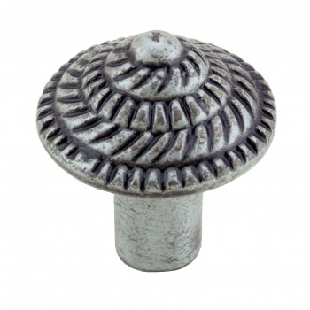 "<PRE>Round Cabinet Knob inchFibonacci Design"" Iron Pewter Finish Pack of 4</PRE>zoom4"