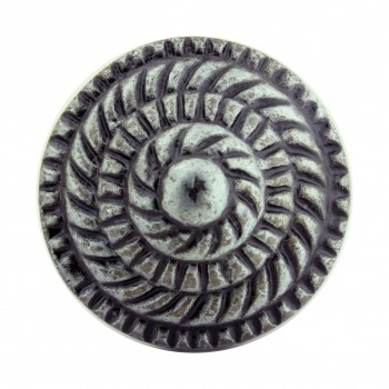 "<PRE>Round Cabinet Knob inchFibonacci Design"" Iron Pewter Finish Pack of 4</PRE>zoom7"