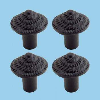 <PRE>Round Iron Cabinet Knob Black Fibonacci Design Cabinet Hardware Pack of 4</PRE>zoom2