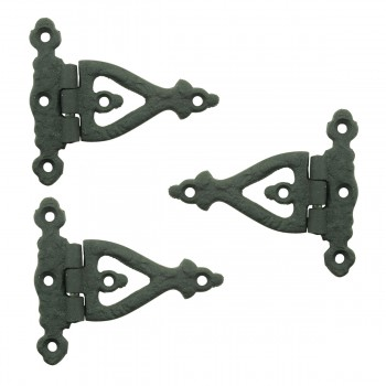 <PRE>3 Inch Black Wrought Iron Door Hinge Strap RSF Finish Barn Door Hinges Pack of 3</PRE>zoom1