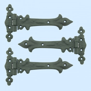 <PRE>7 Inch Wrought Iron Strap Hinge Southern Charm RSF Resistant Barn, Pack of 3</PRE>