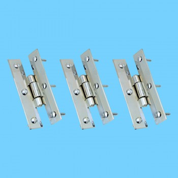 <PRE>3inch Chrome Flush Cabinet H Hinge Pack of 3</PRE>zoom2