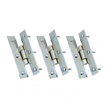 <PRE>3inch Chrome Flush Cabinet H Hinge Pack of 3</PRE>zoom1