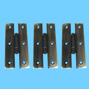 <PRE>3inch Oil Rubbed Bronze Cabinet Flush H Hinge Pack of 3</PRE>zoom2