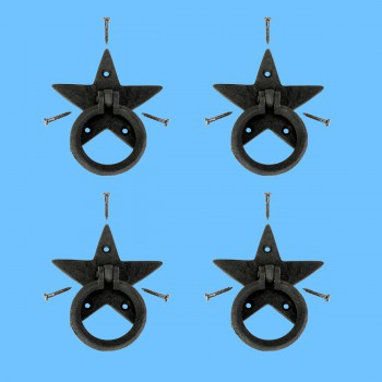 <PRE>Cabinet Drawer Ring Pull Black Iron Southern Star Screws Included Pack of 4</PRE>zoom2