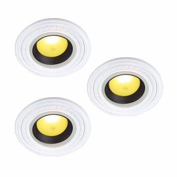 <PRE>White Urethane Spot Light Trim Recessed Durable Foam 6-1/2inch ID Pack of 3</PRE>zoom1