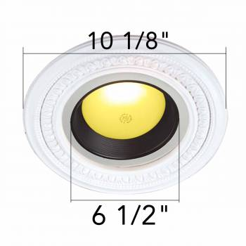 "spec-<PRE>White Urethane Spot Light Trim Recessed Durable Foam 6-1/2"" ID Pack of 3</PRE>"