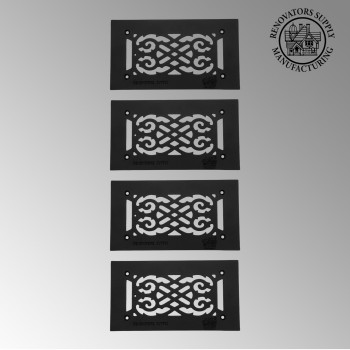 <PRE>4 Heat Air Grille Cast Victorian 5.5inch x 10&quot; Overall </PRE>zoom2