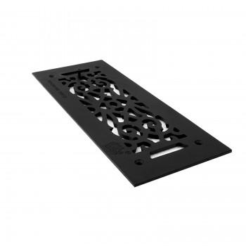 4 Heat Air Grille Cast Victorian 5.5 x 14 Overall Heat Register Floor Register Wall Registers