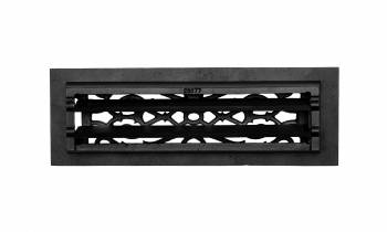 "<PRE>4 Floor Heat Register Louver Vent Victorian Cast 4inch x 14"" Duct </PRE>zoom3"
