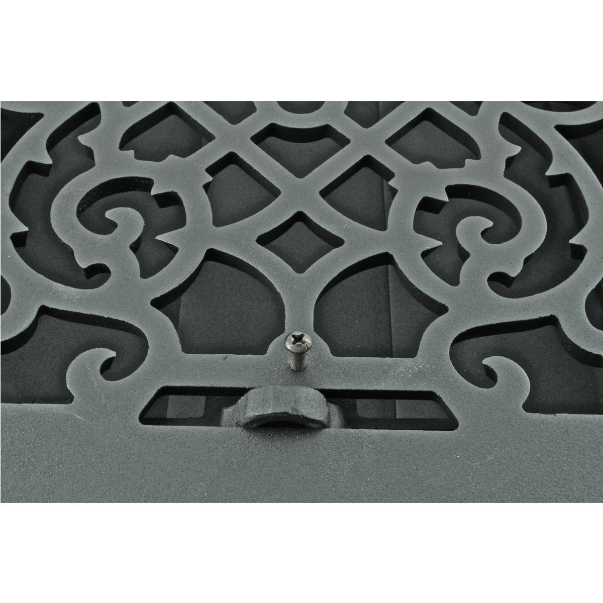 4 Floor Heat Register Louver Vent Victorian Cast 10 x 12 Duct Heat Register Floor Register Wall Registers