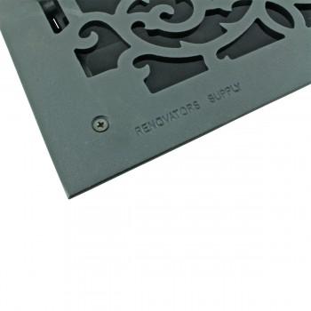 <PRE>4 Register Black Aluminum Heat Register Cast Aluminum w/Logo RSF Black</PRE>zoom5