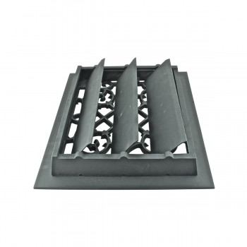 <PRE>4 Register Black Aluminum Heat Register Cast Aluminum w/Logo RSF Black</PRE>zoom3