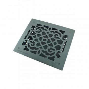 <PRE>4 Register Black Aluminum Heat Register Cast Aluminum w/Logo RSF Black</PRE>zoom8