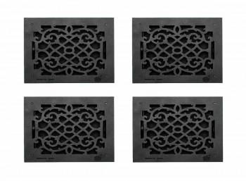 <PRE>4 Register Black Aluminum Heat Register Cast Aluminum w/Logo RSF Black</PRE>