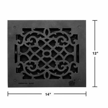 spec-<PRE>4 Register Black Aluminum Heat Register Cast Aluminum w/Logo RSF Black</PRE>