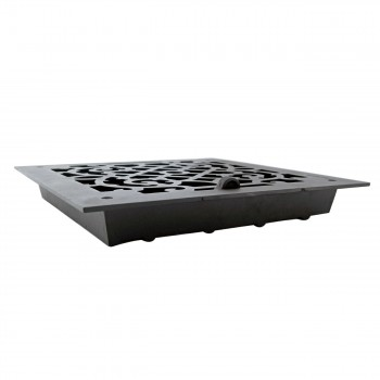 <PRE>4 Floor Heat Register Louver Vent Victorian Cast 12 x 12 Duct </PRE>zoom5