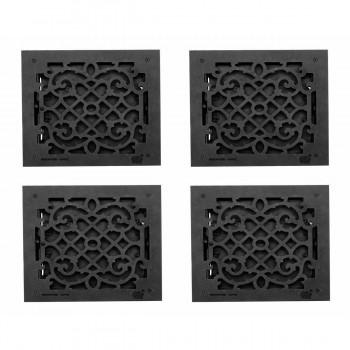 <PRE>4 Floor Heat Register Louver Vent Victorian Cast 12 x 12 Duct </PRE>