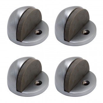 Door Stop Satin Chrome Eclipse Bumper Black Pack of 4 Floor Stop Door Stop Door Bumper