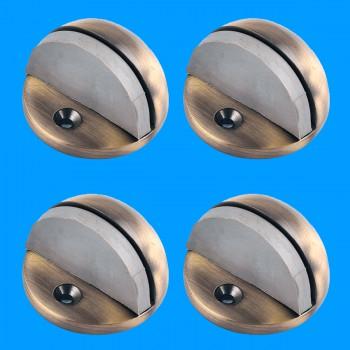 <PRE>Door Stop Antique Brass Eclipse Dark Floor Mount Bumper Pack of 4</PRE>zoom2