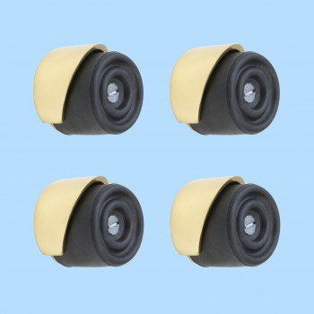 <PRE>4 Door Bumpers Round Black Brass Floor/Wall Mount </PRE>zoom2