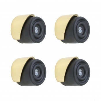 <PRE>4 Door Bumpers Round Black Brass Floor/Wall Mount </PRE>zoom1