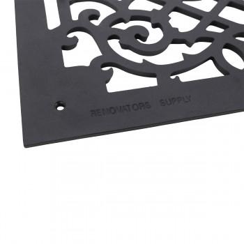 4 Air Grilles Black Cast Aluminum Rustproof Set of 4 Heat Register Floor Register Wall Registers