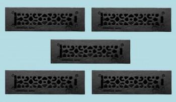 <PRE>5 Floor Heat Register Louver Vent Cast 2 1/4 x10 Duct </PRE>