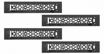 <PRE>4 Heat Air Grille Cast Victorian Overall 3 1/2 x 14 </PRE>zoom1