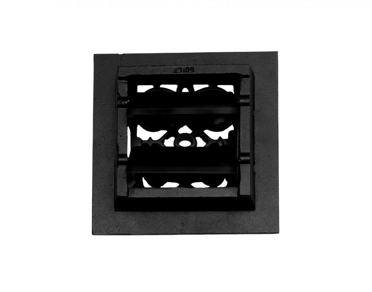 4 Floor Heat Register Louver Vent Victorian Cast 6 x 6 Duct Heat Register Floor Register Wall Registers