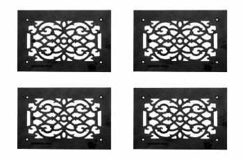<PRE>4 Heat Air Grille Cast Victorian Overall 8 x 12 </PRE>