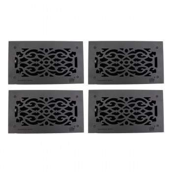 "<PRE>4 Floor Heat Register Louver Vent Victorian Cast 6inch x 12"" Duct </PRE>zoom1"