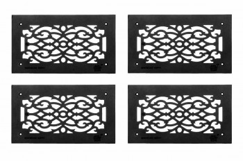 <PRE>4 Heat Air Grille Cast Victorian Overall 8 x 14 </PRE>