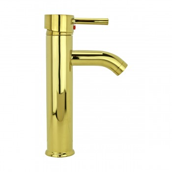 <PRE>4 Bathroom Faucet Gold PVD Brass Round Sinlge Hole 1 Handle </PRE>zoom10