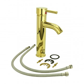 <PRE>4 Bathroom Faucet Gold PVD Brass Round Sinlge Hole 1 Handle </PRE>zoom12