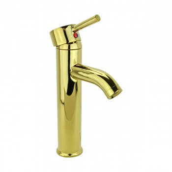 <PRE>4 Bathroom Faucet Gold PVD Brass Round Sinlge Hole 1 Handle </PRE>zoom13