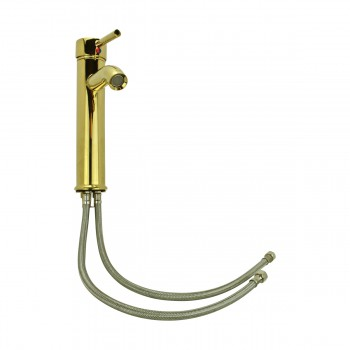 <PRE>4 Bathroom Faucet Gold PVD Brass Round Sinlge Hole 1 Handle </PRE>zoom16